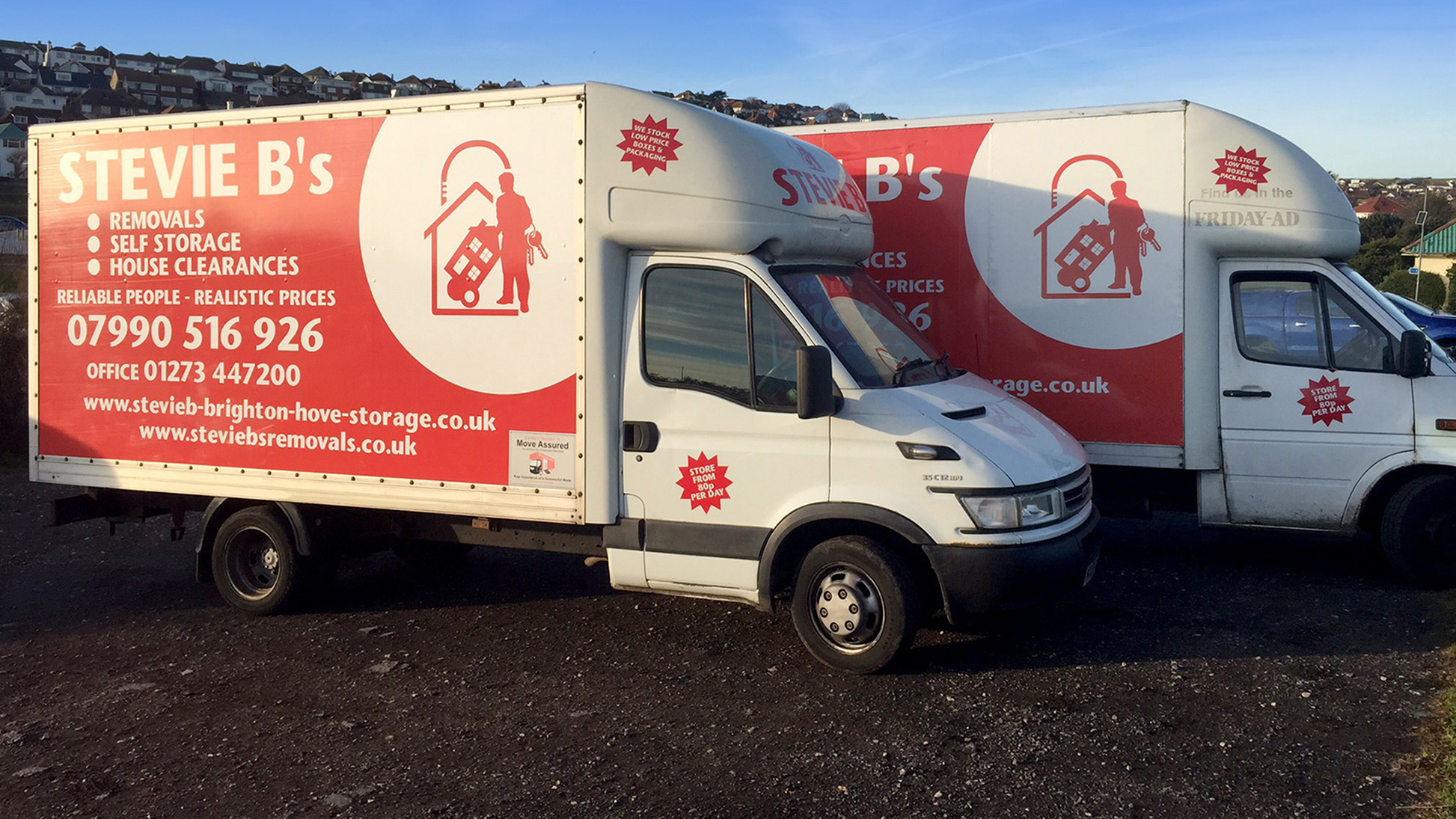 Stevie B's Removals Vans in Brighton, near Saltdean, Brighton & Hove